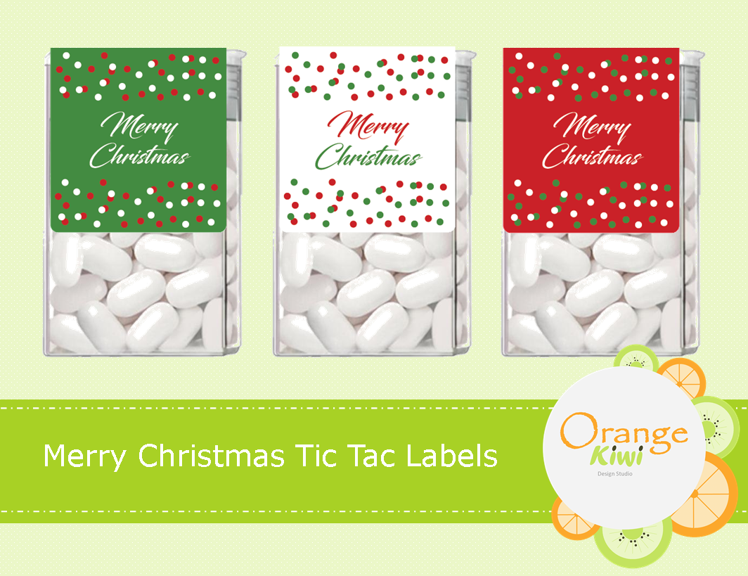 merry christmas tic tac labels
